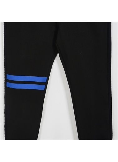 Panço PanÇo 2021BK04005 Şerit Detaylı Erkek Çocuk Pantolon Siyah